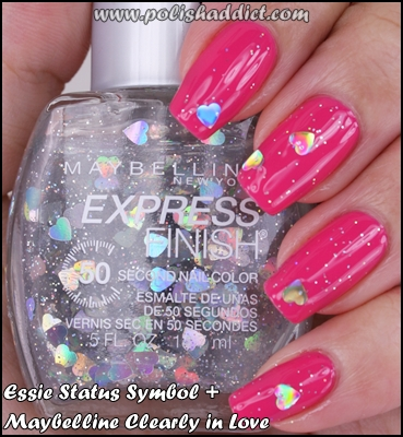 Essie-Status-Symbol-+-Maybelline-Clearly-in-Love